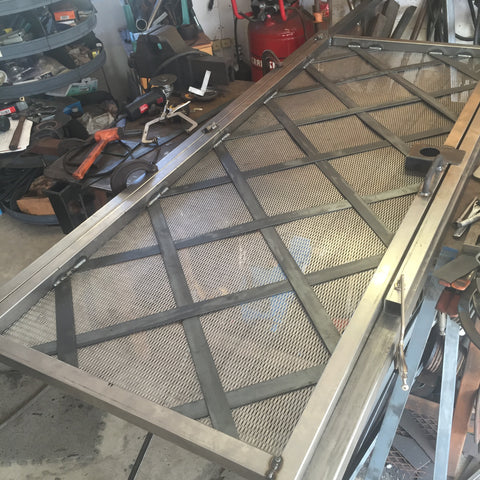 security front door custom blunt steel