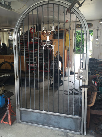 blunt steel security door gate front house home hacienda custom