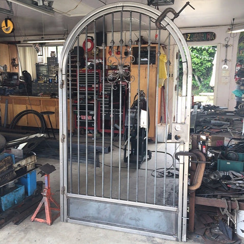 blunt steel security gate hacienda home art entry way
