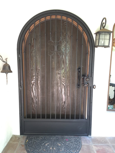 custom front entry door security door blunt steel