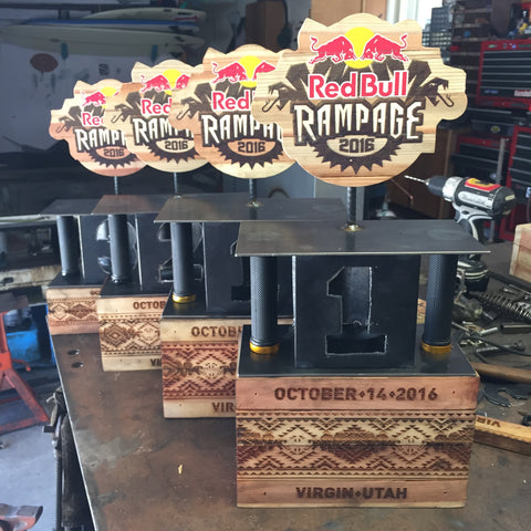 red bull rampage trophy trophies blunt steel