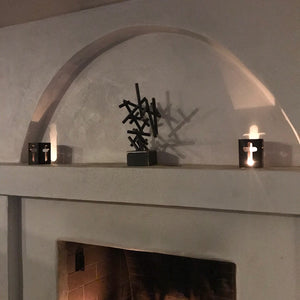 Rustic Candle Decoration with Cross