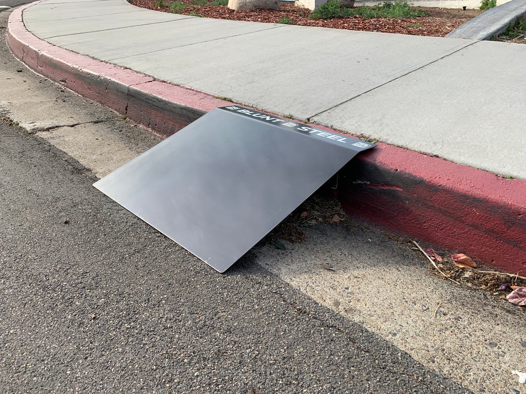 Blunt Steel Curb Ramp