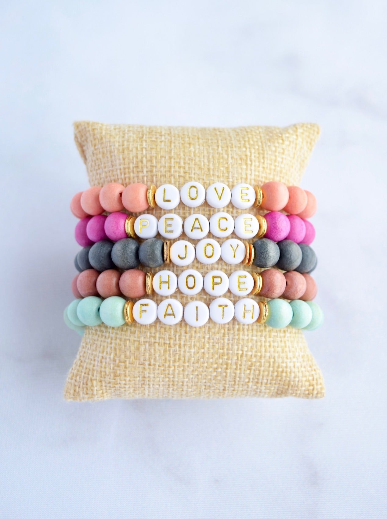 Customizable Wood Letter Bracelet