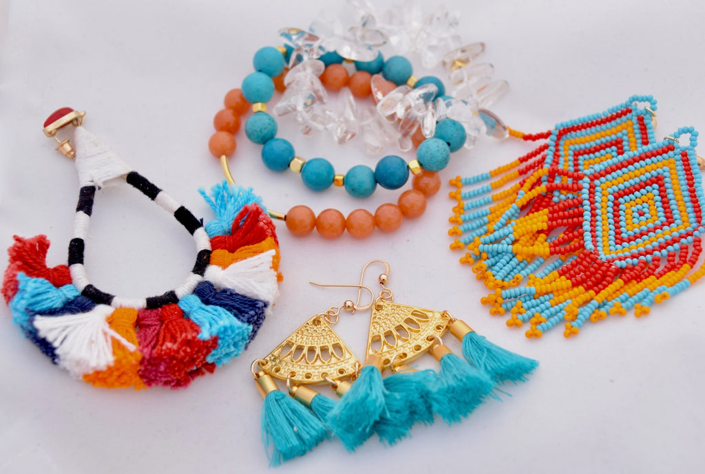Turquoise and Orange Stack
