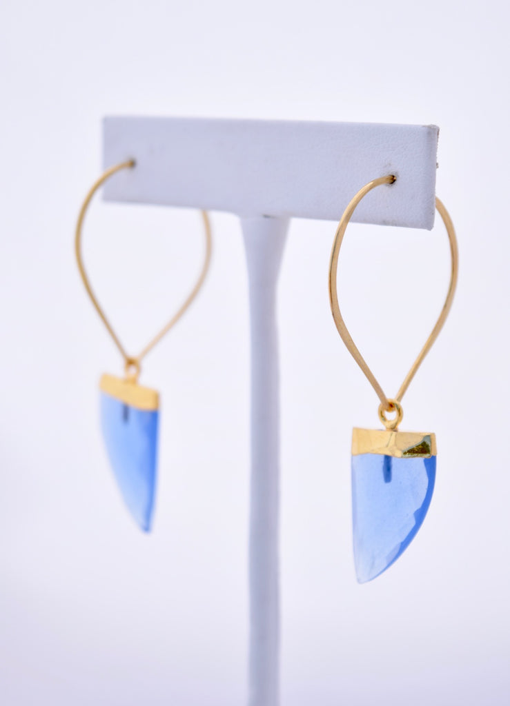 Claudia Blue Quartz Gemstone Earrings