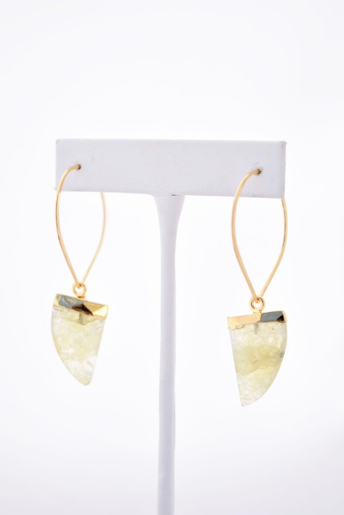 Claudia Green Prehnite Gemstone Earrings