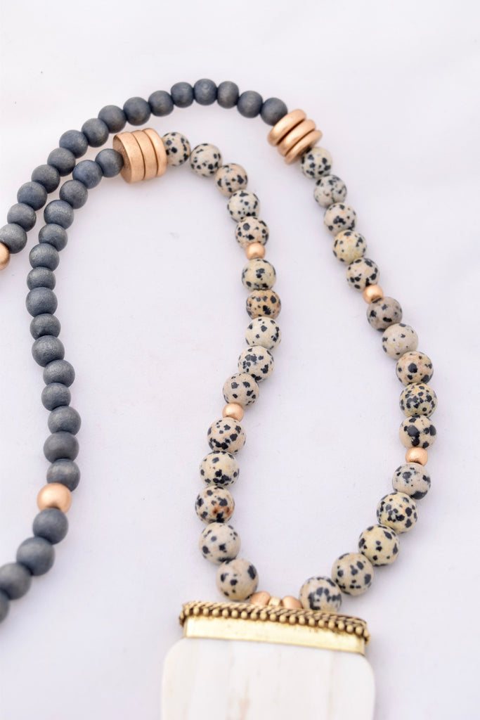 Allison Dalmatian Jasper Statement Necklace