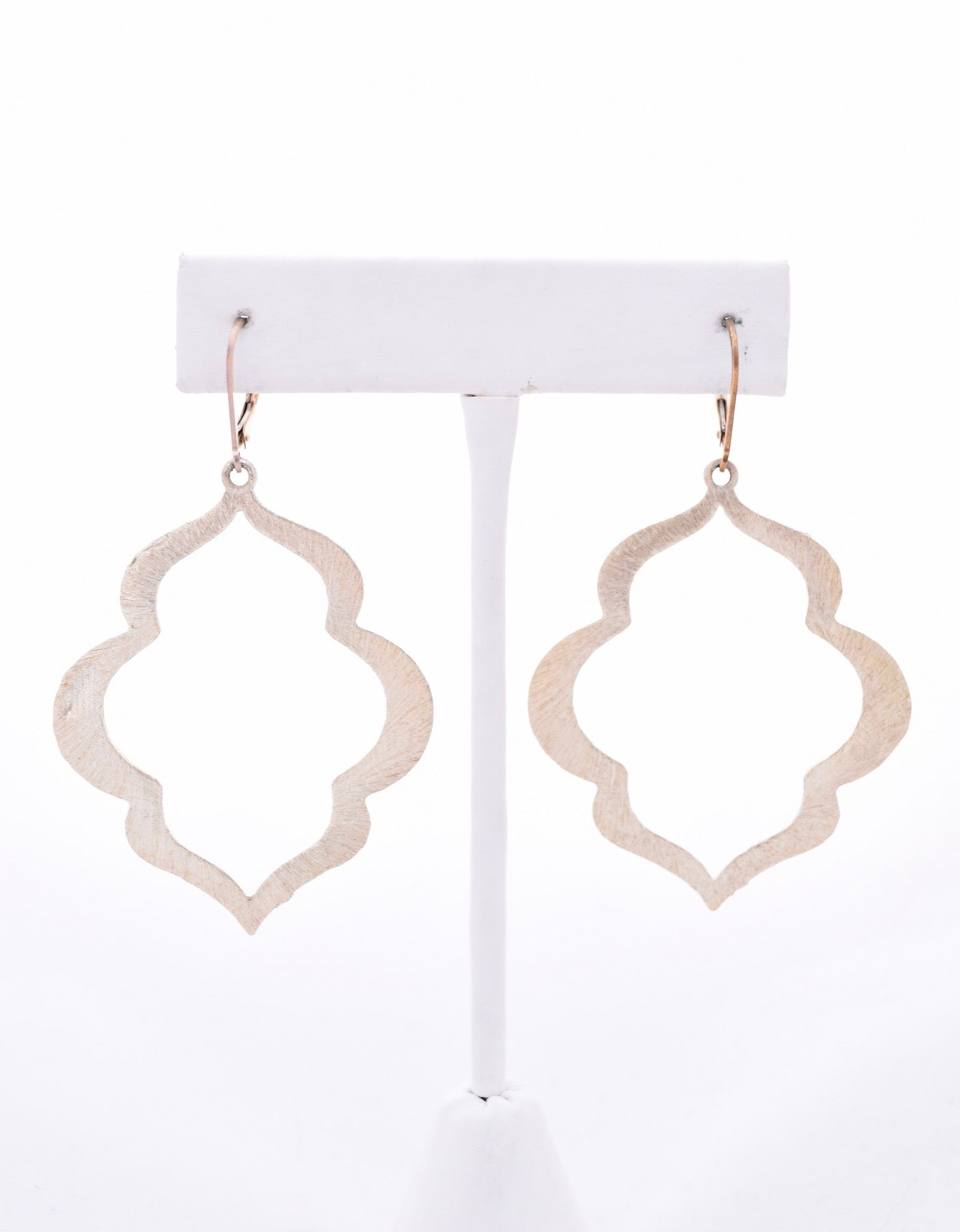 Large Gold Keyhole Earrings
