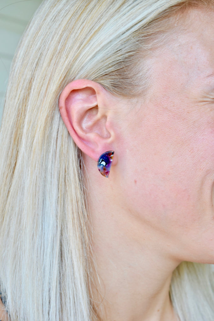 Heather - resin stud multicolor