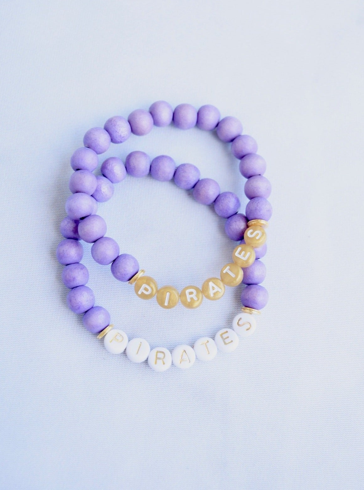 Customizable Purple Wood Letter Bracelet