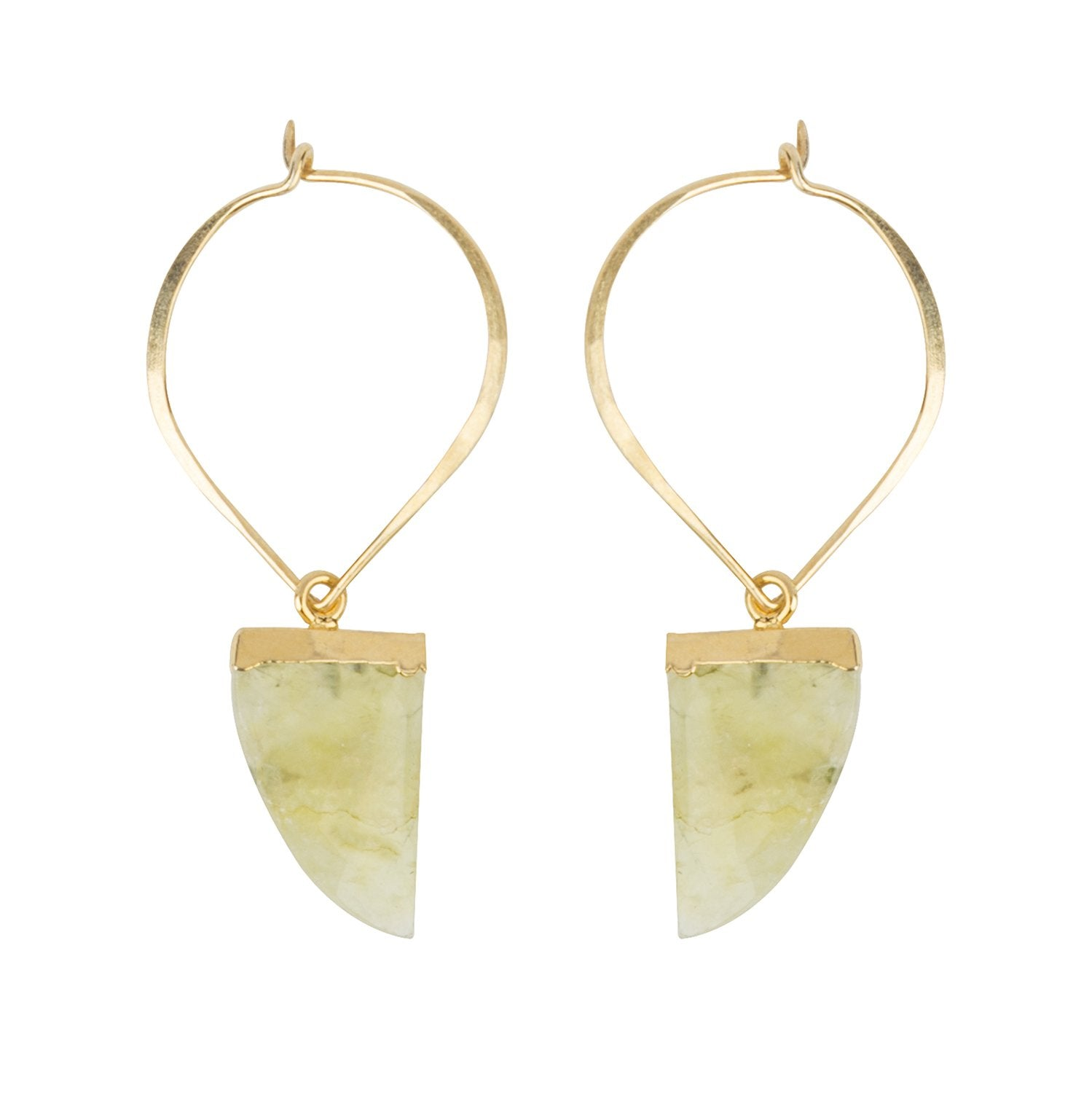 Claudia Green Prehnite Earrings