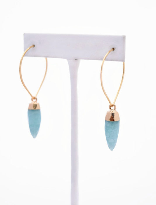 Fiona Amazonite Gemstone Spike Earrings