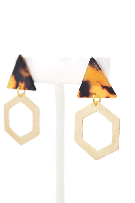 Lina - resin earring, Summer