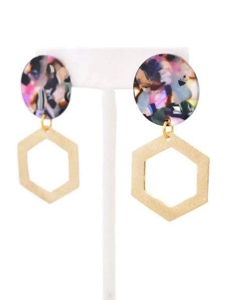 Shelly - resin earrings