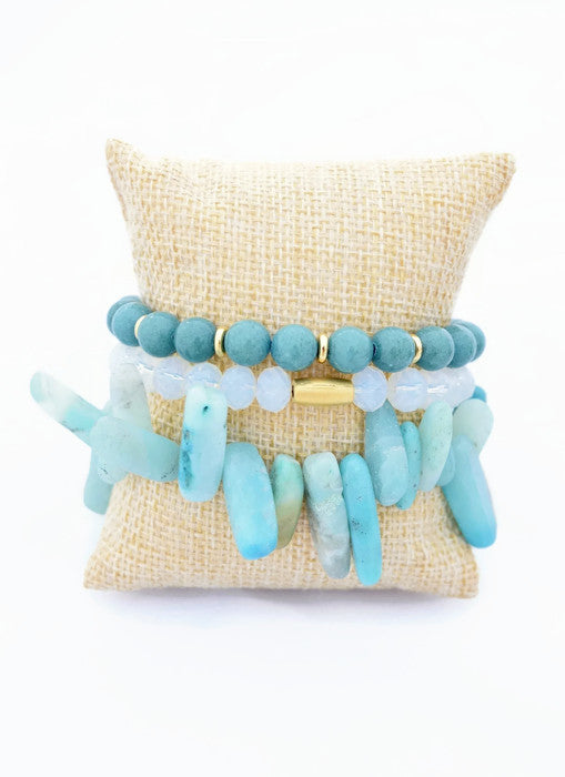 Green Amazonite Bracelet Stack