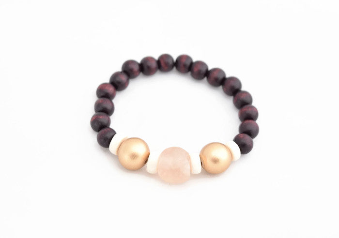 Light Pink Gold Stacking Bracelet