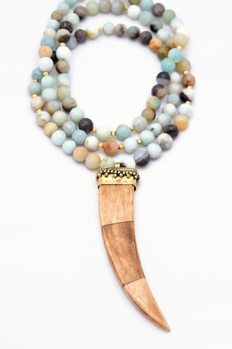 Brown Amazonite Statement Necklace