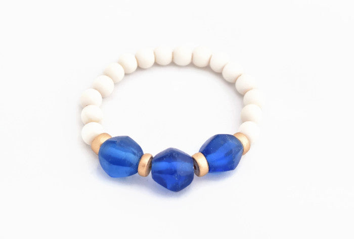 Royal Blue Glass Stacking Bracelet