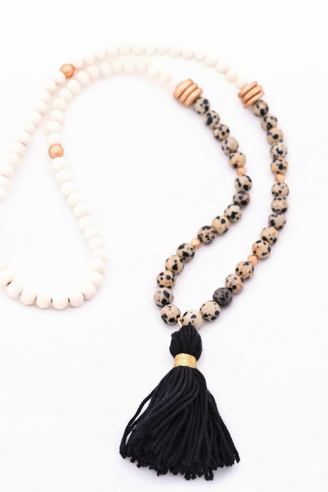 Sarah Black and White Statement Necklace
