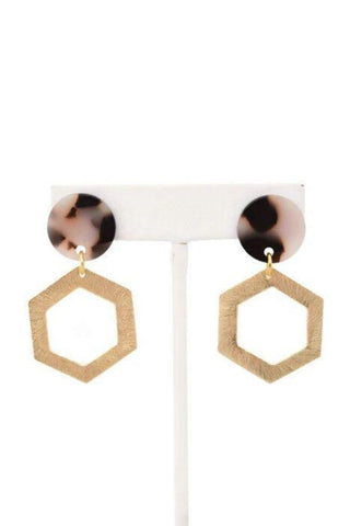 Mattie - resin earring