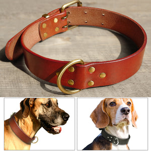 Handmade Genuine Leather Dog Collars