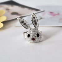 cute alloy bunny rabbit ring