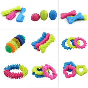 1PC Rubber Resistant Bite Clean Teeth Chew Training Toy For Pet Dog