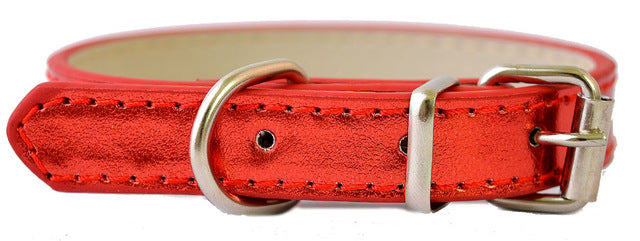 Leather Adjustable Dog Collars