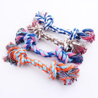 Double Knot Cotton Rope Braided Bone Shape Puppy Chew Toy