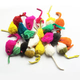 10Pcs/lot Rabbit Fur Mouse Cat Toy