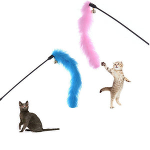 Feather Wand Stick For Cat
