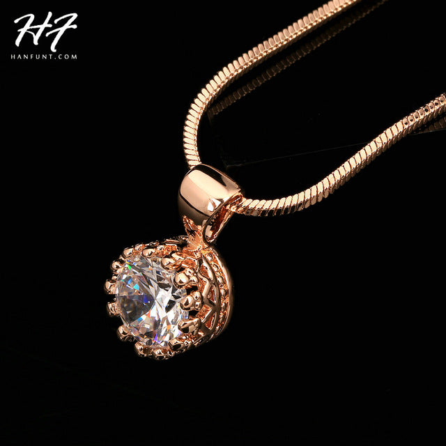 Crown Pendant Necklace for Women