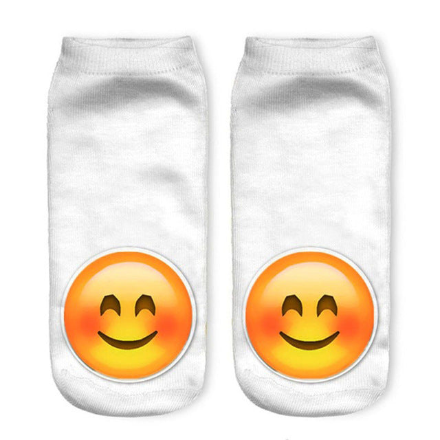 Emoji Pattern Low Ankle Socks