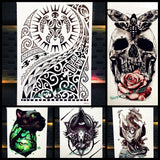 Large Body Art Temporary Tattoo