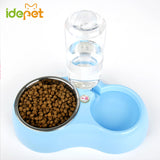 Bowl Dog Feeder With Water Bottle
