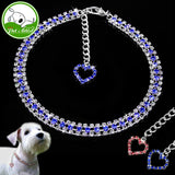 Rhinestone Heart Cat Collar