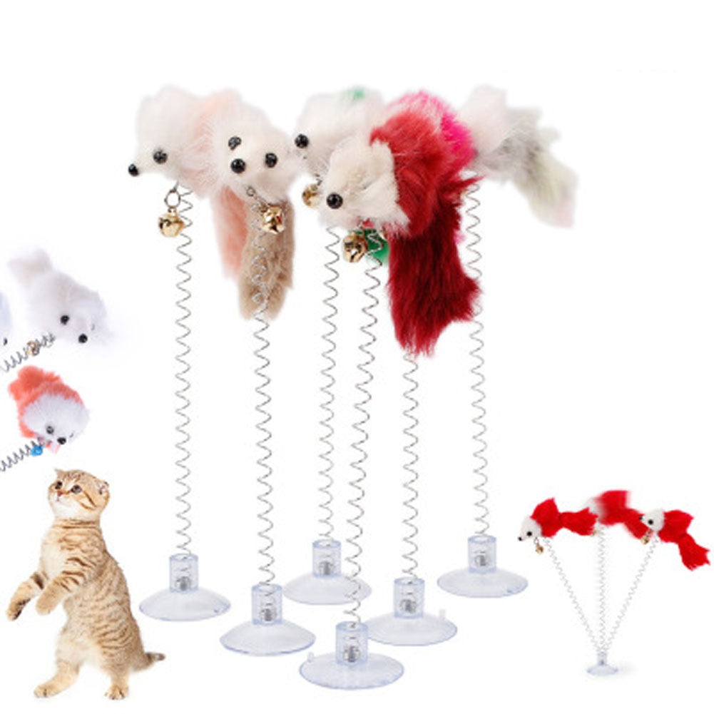1pcs Stick On Floor Cat Toy