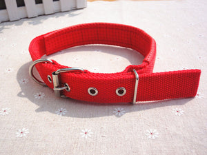 Nylon Pet Dog Soft Solid Adjustable Collar