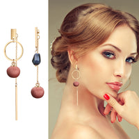 Purple Ball Drop Earring