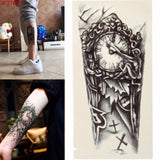 Temporary Large Mechanical Clock Tattoo Sticker