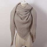 Hot Fashion Solid Color Winter Square Scarf