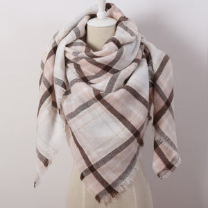 Solid Color Winter Square Scarf