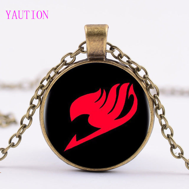 Glass Dome Fairy Tail Pendant Necklace