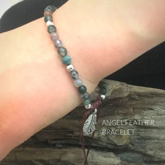 Best Christian Gifts valentine's Day 2020 for Kids Angel Feather Charm Bracelet