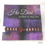 'This do... In Remembrance of me' Lenten Cross Bracelets (Set of 2)