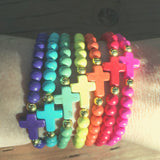 The ' Jesus loves Me ' Colorful Youth Bracelet - Rainbow Set of 7