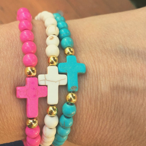 The ' Jesus loves Me ' Colorful Youth Bracelet - Trio Set