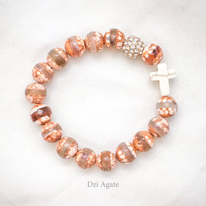 November's Limited Edition Bracelet—' Thou Art with Me ' - DZI Agate