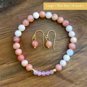 April's Small Batch Bracelet—Pink Aventurine